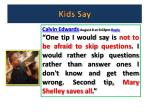 kids say3