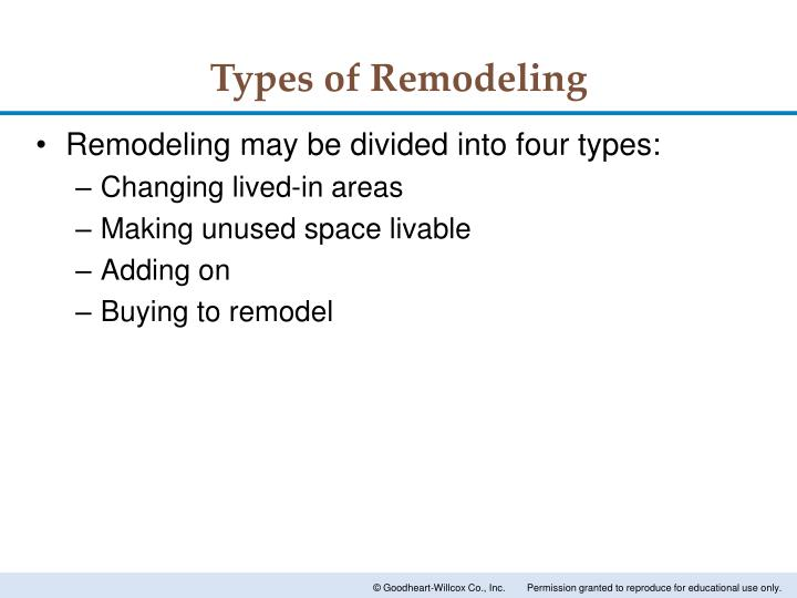 Types of Remodeling