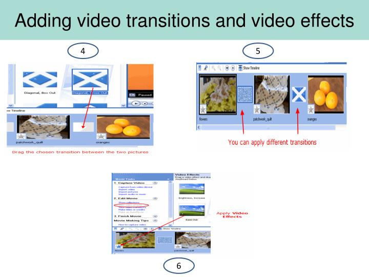 Adding video transitions and video effects