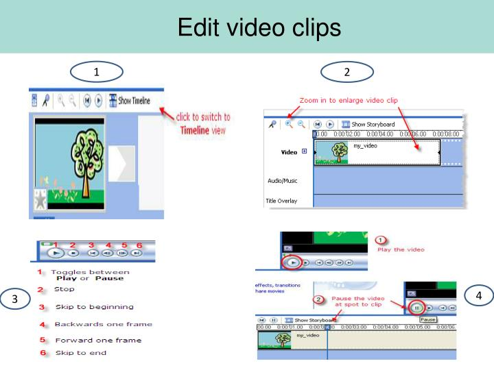 Edit video clips