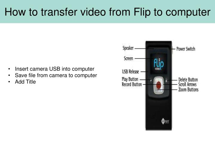 How to transfer video from Flip to computer
