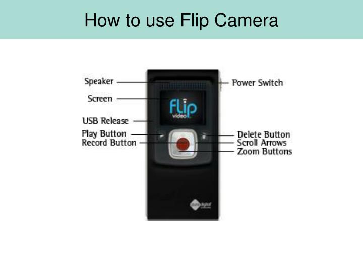 How to use Flip Camera