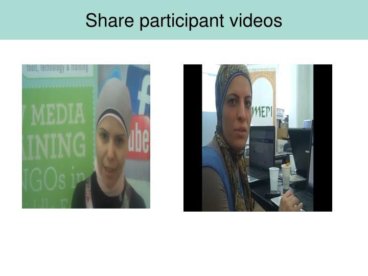Share participant videos
