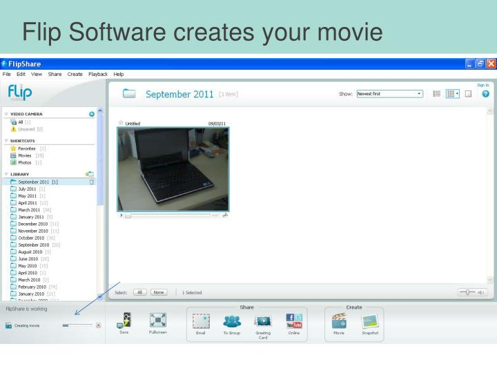 Flip Software creates your movie
