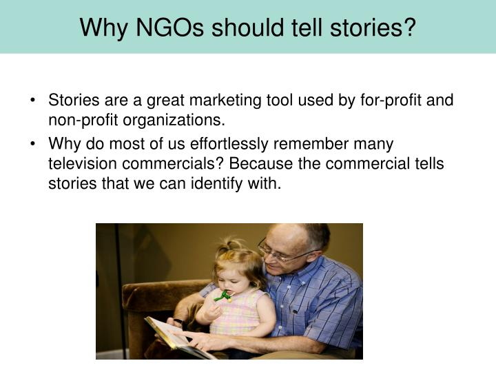 Why NGOs should tell stories?
