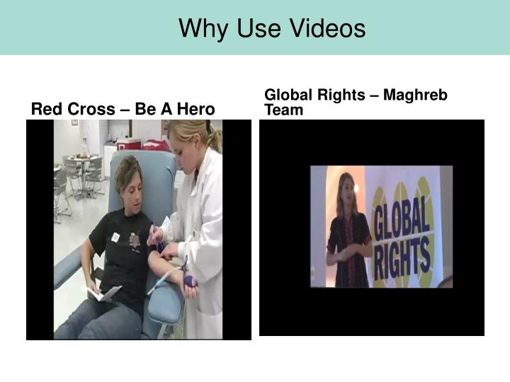 Why Use Videos