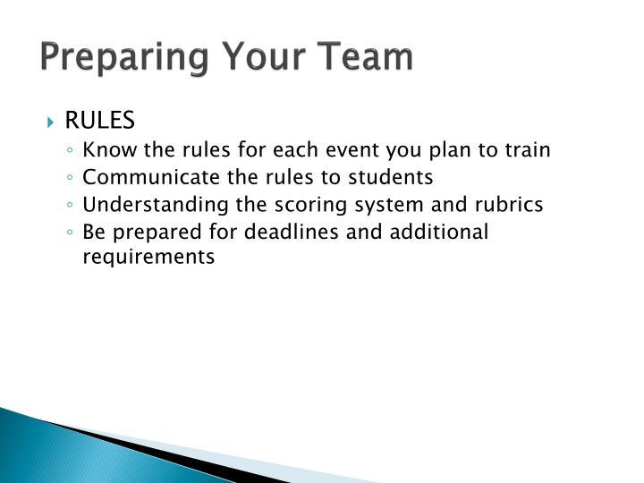 Preparing Your Team
