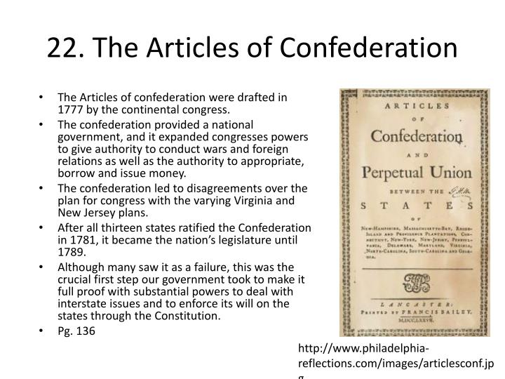 from 1781 to 1789 the articles of confederation essay Part of the articles of confederation northwest ordinance of 1787 three laws (1784, 1785, 1787) that dealt with the sale of public lands in the northwest territory and established a plan for the admission of new states to the union.