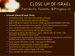 close up of israel patriarchs parents progeny 2