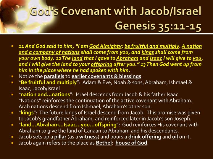 God's Covenant with Jacob/Israel