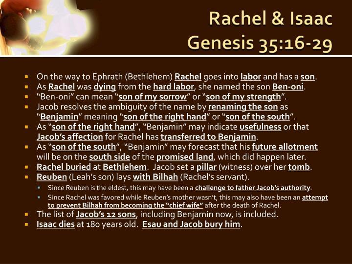 Rachel &
