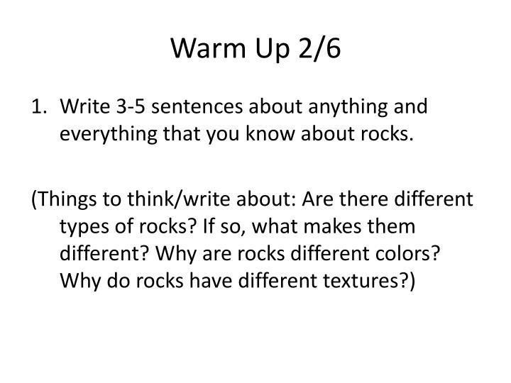 Warm Up 2/6