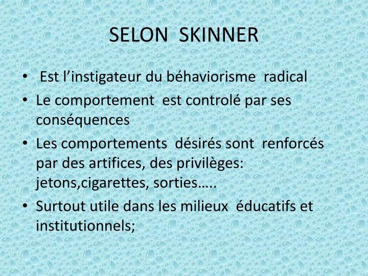SELON  SKINNER