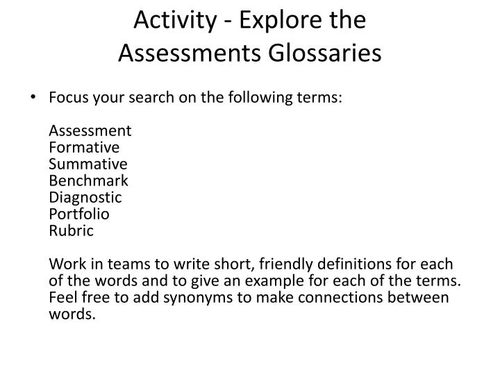 Activity - Explore the