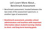 let s learn more about benchmark assessment