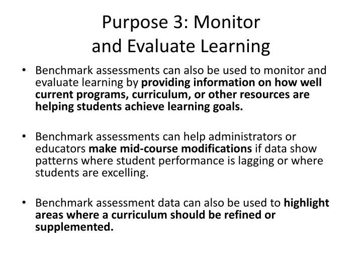 Purpose 3: Monitor