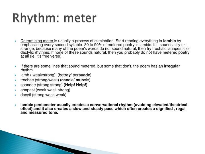 Rhythm: meter