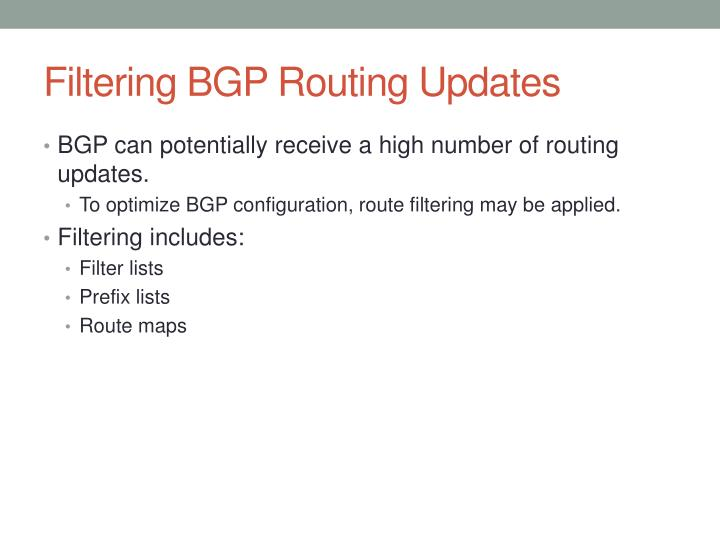 Filtering BGP Routing Updates