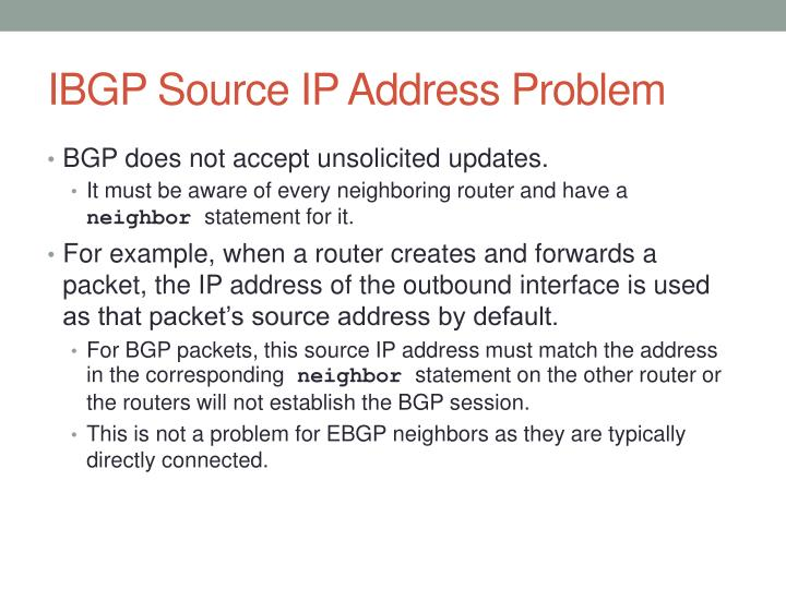 IBGP Source IP Address Problem