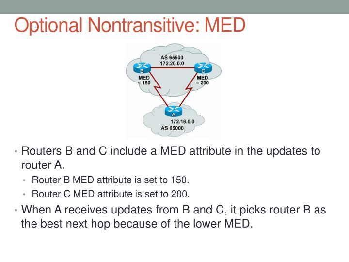 Optional Nontransitive: MED