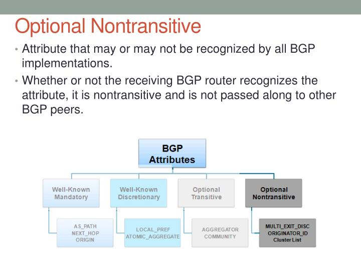 Optional Nontransitive