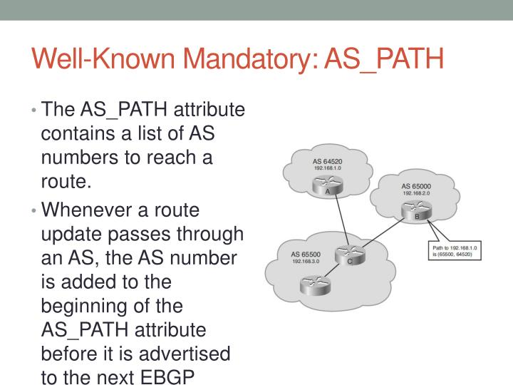 Well-Known Mandatory: AS_PATH