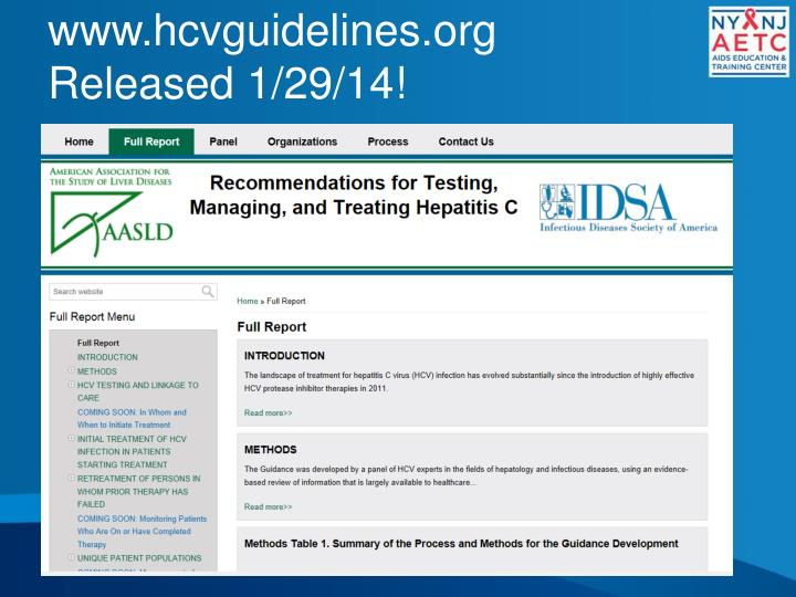 Www hcvguidelines org released 1 29 14