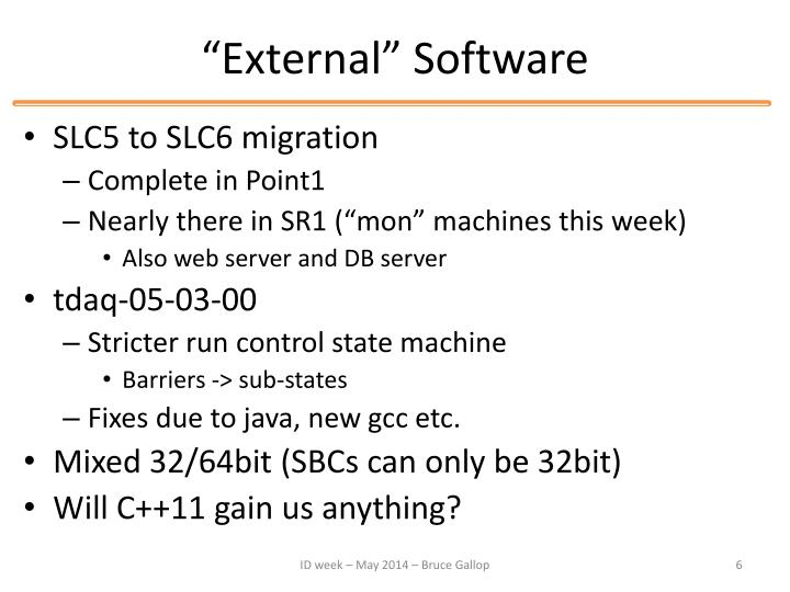 """External"" Software"