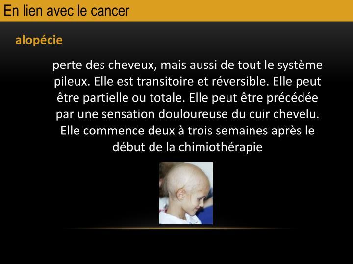 En lien avec le cancer