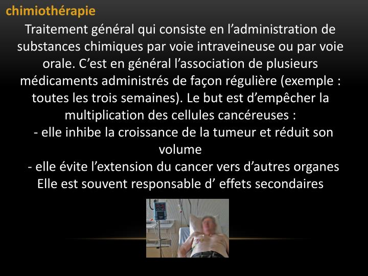 chimiothrapie