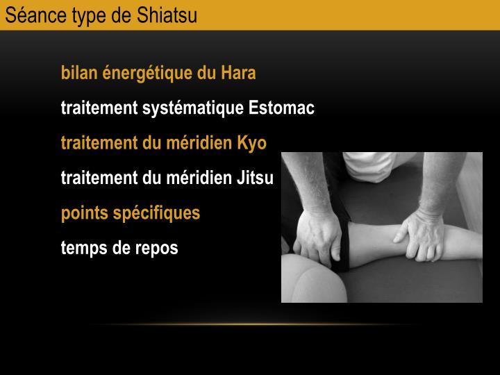 Sance type de Shiatsu