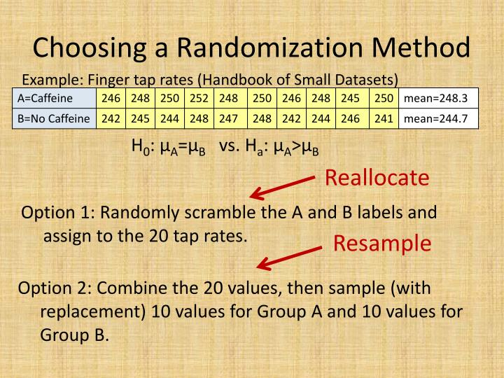 Choosing a Randomization Method