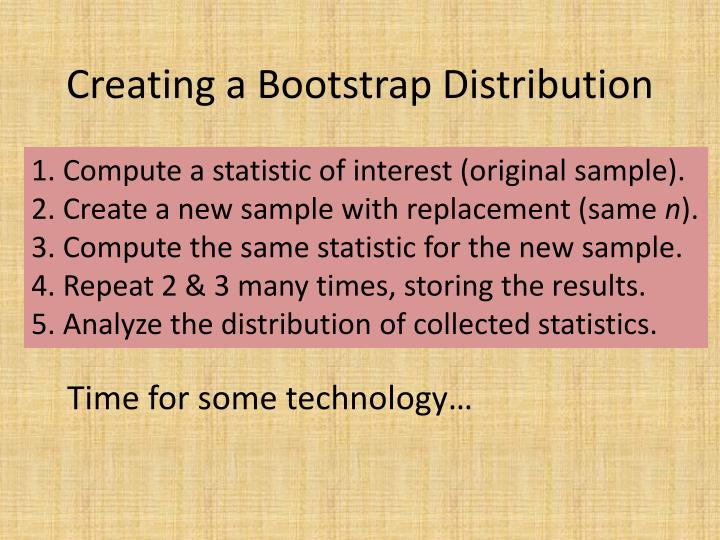 Creating a Bootstrap Distribution