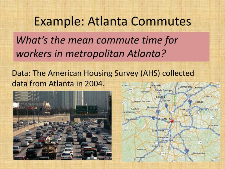 Example: Atlanta Commutes