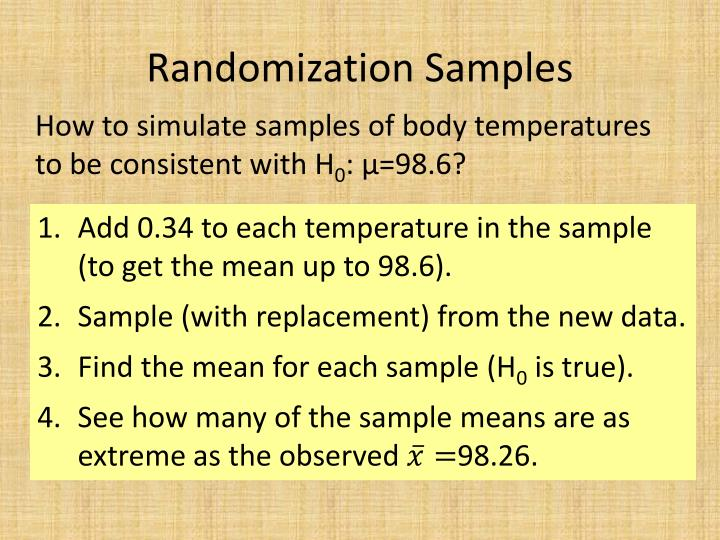 Randomization Samples