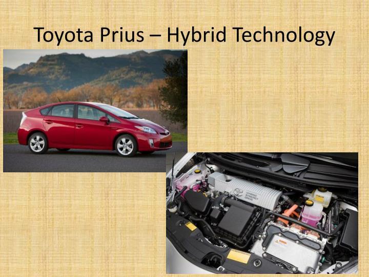 Toyota Prius – Hybrid Technology