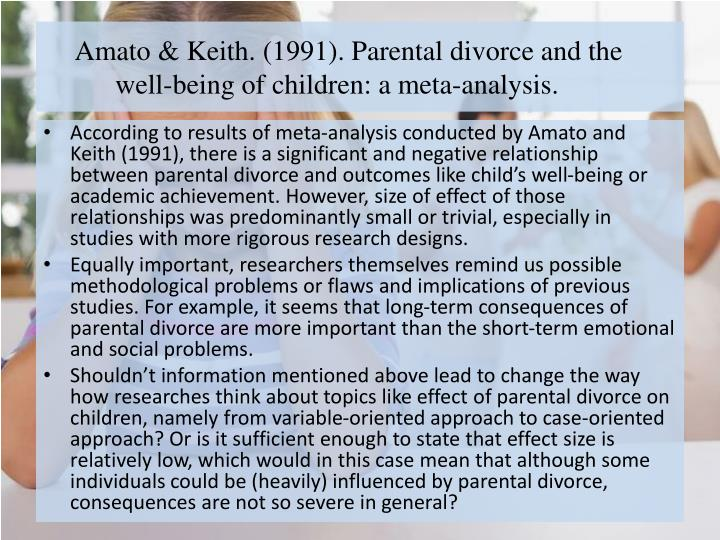 an analysis of the negative effects of divorce on children in the us Encyclopedia on early childhood development languages fr  divorce and separation have direct impact on children  children of divorce are more likely to.
