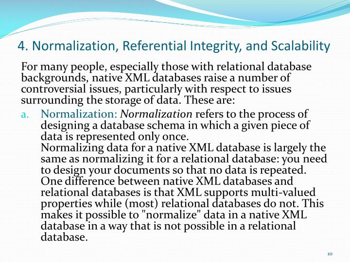 4. Normalization, Referential Integrity, and Scalability