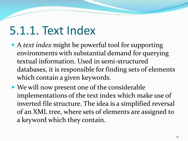 5.1.1. Text Index