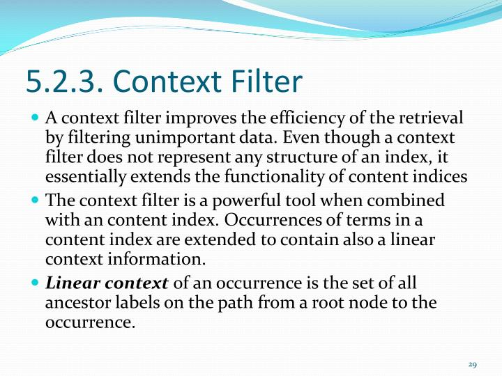 5.2.3. Context Filter