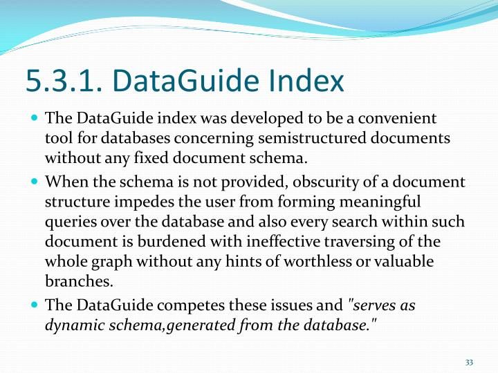 5.3.1. DataGuide Index