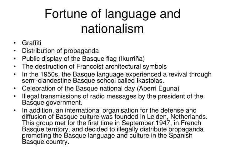 language and nationalism The best argument is usually put forward by those who argue that nationalism is a  bilingual education and the sociolinguistics of language learning and.
