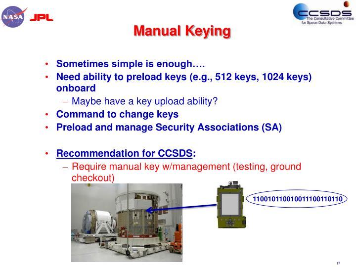 Manual Keying