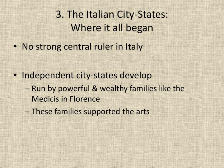 3. The Italian City-States: