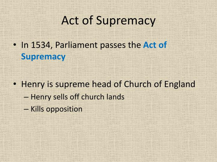 Act of Supremacy