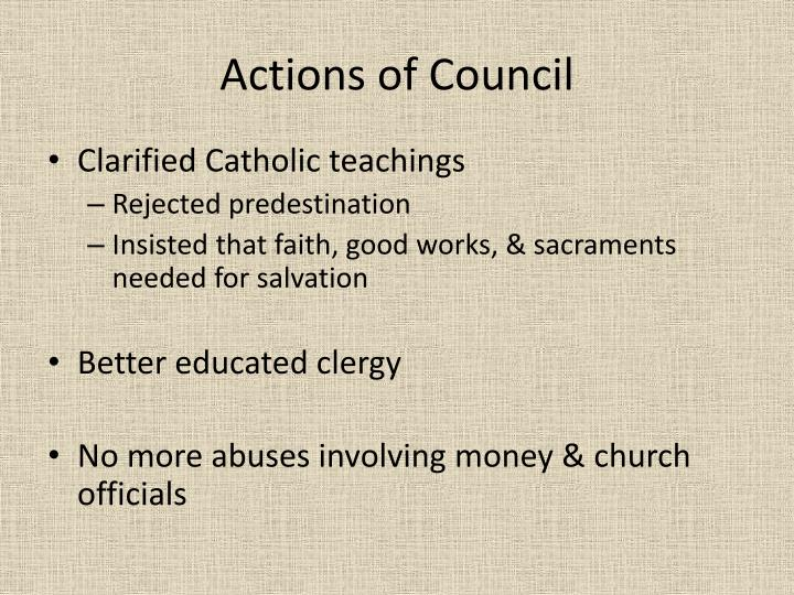 Actions of Council