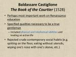 baldassare castiglione the book of the courtier 1528