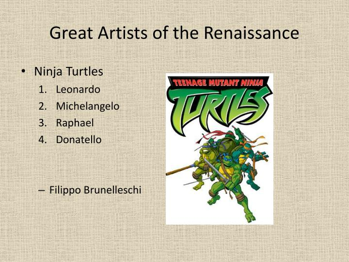 Great Artists of the Renaissance