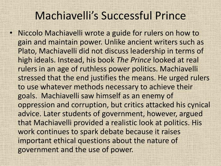 Machiavelli's Successful Prince