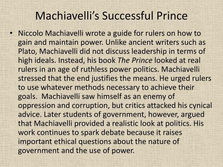 Machiavelli's Successful Prince